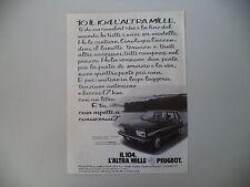 advertising Pubblicità 1979 PEUGEOT 104 ZS