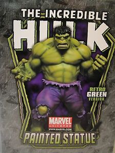 BOWEN SIGNED & SKETCHED INCREDIBLE HULK STATUE RETRO MARVEL AVENGERS GREY Red