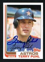 Terry Puhl #277 signed autograph auto 1982 Topps Baseball Trading Card
