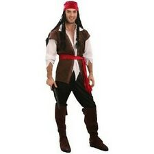 MALE PIRATE FANCY DRESS COSTUME - XL