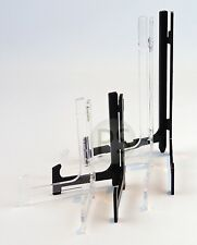 "Modern Display Stand /Easel - Black & Clear : Plate, Photo, 10cm-25cm, 4"" to 10"""