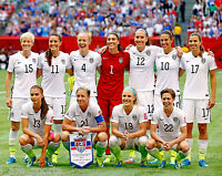2015 USA SOCCER TEAM WOMENS WORLD CUP CHAMPIONS 8x10 PHOTO MORGAN WAMBACH LLOYD