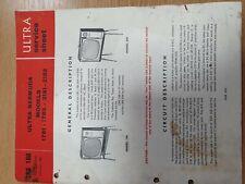 Vintage Manual ULTRA Television Model 1781 1783