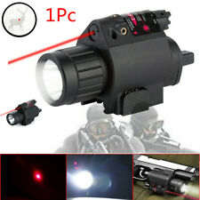 Red Dot Laser Sight &CREE LED Flash Light Combo For rifle shotgun 20mm Rail US