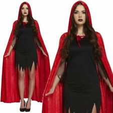 Deluxe Gothic Hooded Velvet Cloak Robe Witch Vampire Cape Halloween Costume