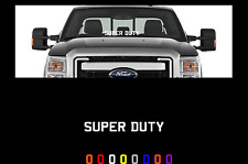 "Super Duty windshield window 23"" banner decal universal fits ford trucks"