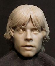 "CUSTOM Luke Skywalker HEAD SCULPT. STAR WARS Action figures, 1/6 . 12"". ST-39"