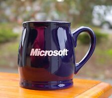Blue Microsoft Coffee Mug Computer Corporation Redmond WA Bill Gates Paul Allen