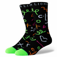 Stance Rhianna CLF Foundation Crew Socks BLACK/GREEN Men's Large ~ NWT