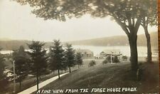 HM Beach RPPC A Fine View from the Forge House Porch, Old Forge, NY Adirondack