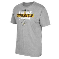 "Pittsburgh Penguins Reebok NHL Grey ""Back 2 Back"" Stanley Cup Champions T-Shirt"