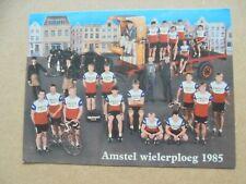 wielerkaart 1985 team amstel bier  gazelle