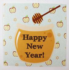 Happy New Year Greeting Card & Envelope Seal Jewish Hebrew Celebration Honey Pot