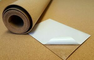 Cork Sheet Roll Self Adhesive 2mm Thick - Various sizes