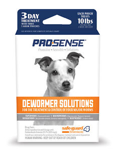 Pro-Sense DEWORMER SOLUTIONS 3 Day Treatment 10 lbs FOR DOGS Treatment Control