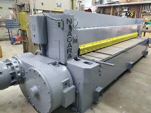 "Niagara Mechanical Squaring Shear 3/8"", 12 foot length Good Condition"