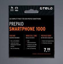 otelo D2 Smartphone 1000 Prepaid Handy Karte 1€ Guthaben o.tel.o Callya Vodafone