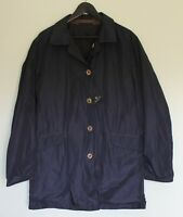 MASSIMO DUTTI MENS Blue Reversible Trench Coat Size M  - Brand New with Tags