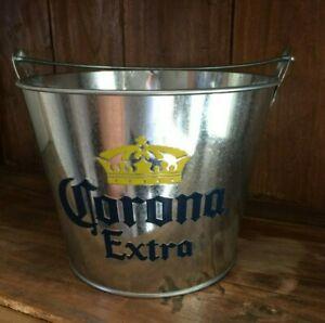 Corona Extra 5 Quart Galvanized Ice Bucket with Built In Bottle Opener