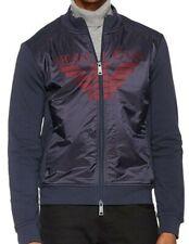 AJ ARMANI Jeans Original Herren Sweetjacke Mega Logo-Blau/Neu mit Etikett/Gr-L