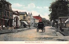 1911 Stores West Main St. Freehold NJ post card
