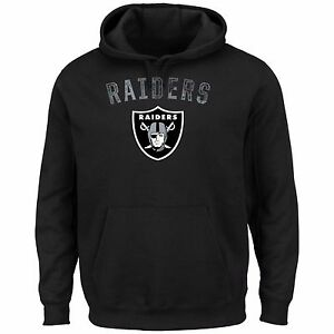 Majestic Oakland Raiders Men's Black Kick Return II Pullover Hoodie Jacket