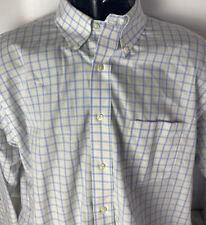 Brooks Brothers Classic Casual Shirt Plaid Check Non Iron Supima Cotton 171/2