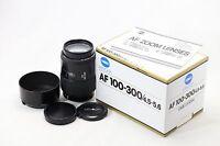 *MINT* Minolta AF 100-300mm f/4.5-5.6 Telephoto Lens For Sony Alpha A Mount
