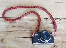 windmup Red and black 16mm hand weave Camera neck strap