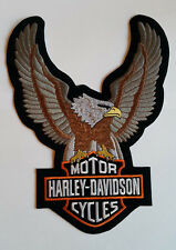 Harley Davidson Motorcycle Bikers Embroidered Sew/Iron On Patch Patches 18x24cm