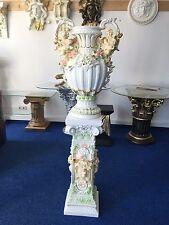 Säule Barock Style Dekosäule Griechische Säulen Vase Barock Engel 1073+0868 Set