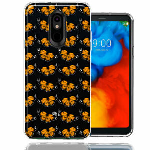 For LG Stylo 5 Monarch Butterflies Double Layer Phone Case Cover