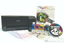 A4 Sublimation Printer Bundle: EPSON ET-2710 + 4 x 100ml Ink + Paper - None OEM
