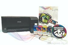 A4 Stampante a sublimazione Bundle: EPSON ET-2710 + 4 x 100ml Inchiostro + Carta-nessuna OEM