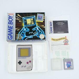Nintendo Game Boy Grey Console with Original Box & Tetris Game