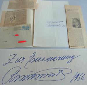 Opernsänger Beniamino GIGLI (1890-1957): Autogramm ROM 1956, Beilagen