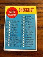 1963 Topps #510 Unmarked Checklist