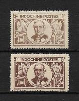 "Complete set of 2 new* stamps  INDO CHINA 1944.  "" La GRANDIERE ""      (4174)"