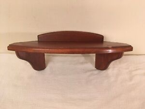 Vintage Mahogany Wood Corner Or Flat Wall Shelf 16x5""