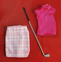 Barbie Careers I Can Be A Golfer Golf Fashion Doll Clothes Accessory Set