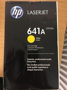 Genuine Original HP Colour Laserjet 4600 4650 Yellow Toner Cartridge 641A C9722A