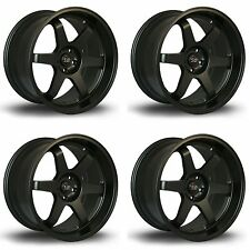 4 x ROTA Grid Drift CERCHI IN LEGA NERO MATT 18x8.5"