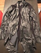 Melissa McCarthy Seven7 Jacket Sz L Ribbed & Faux Leather Draped Black