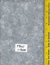 "FBW 1-300, 108"" EXTRA WIDE QUILT BACKING BTY: FAUX BATIK LOOK, GRAY, SILVER"