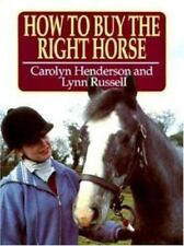 VINTAGE BOOK 1996 GREAT INFORMATION HOW TO BUY THE RIGHT HORSE GOOD ITEM