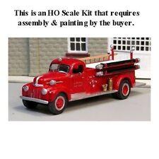 HO SCALE:  1942-47 FORD-LaFRANCE FIRE PUMPER by Sylvan-Kit #V-181