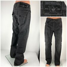 True Religion Mens 34 X 35 Jeans Bootcut Dark Gray 100% Cotton Made In USA