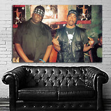 Poster Mural Tupac 2Pac Biggie Small Notorious BIG 35x52 inch (90x132 cm) Canvas
