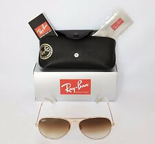 Ray-Ban RB3025 58mm 001/51 Aviator Unisex Gold/Brown Sunglasses