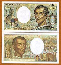 France, 200 francs, 1989, P-155 (155c), UNC